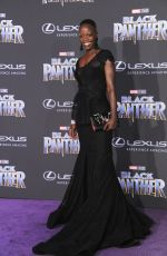 FLORENCE KASUMBA at Black Panther Premiere in Hollywood 01/29/2018