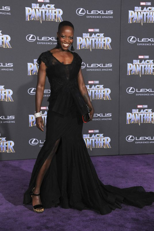 FLORENCE KASUMBA at Black Panther Premiere in Hollywood 01/29/2018