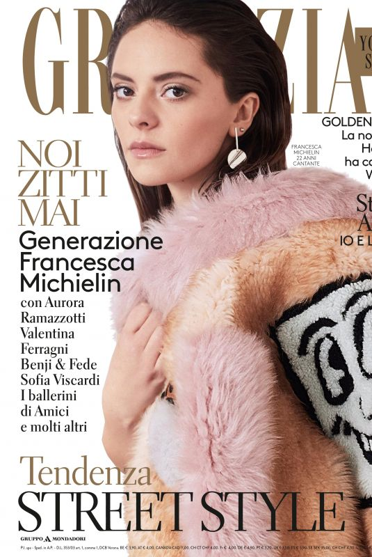 FRANCESCA MICHELIN in Grazia Magazine, Italy January 2018