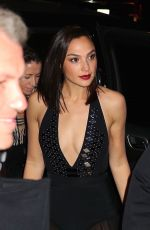 GAL GADOT Leaves Her Hotel in New York 01/24/2018