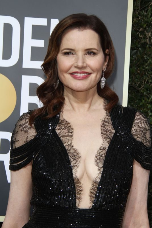 GEENA DAVIS at 75th Annual Golden Globe Awards in Beverly Hills 01/07/2018
