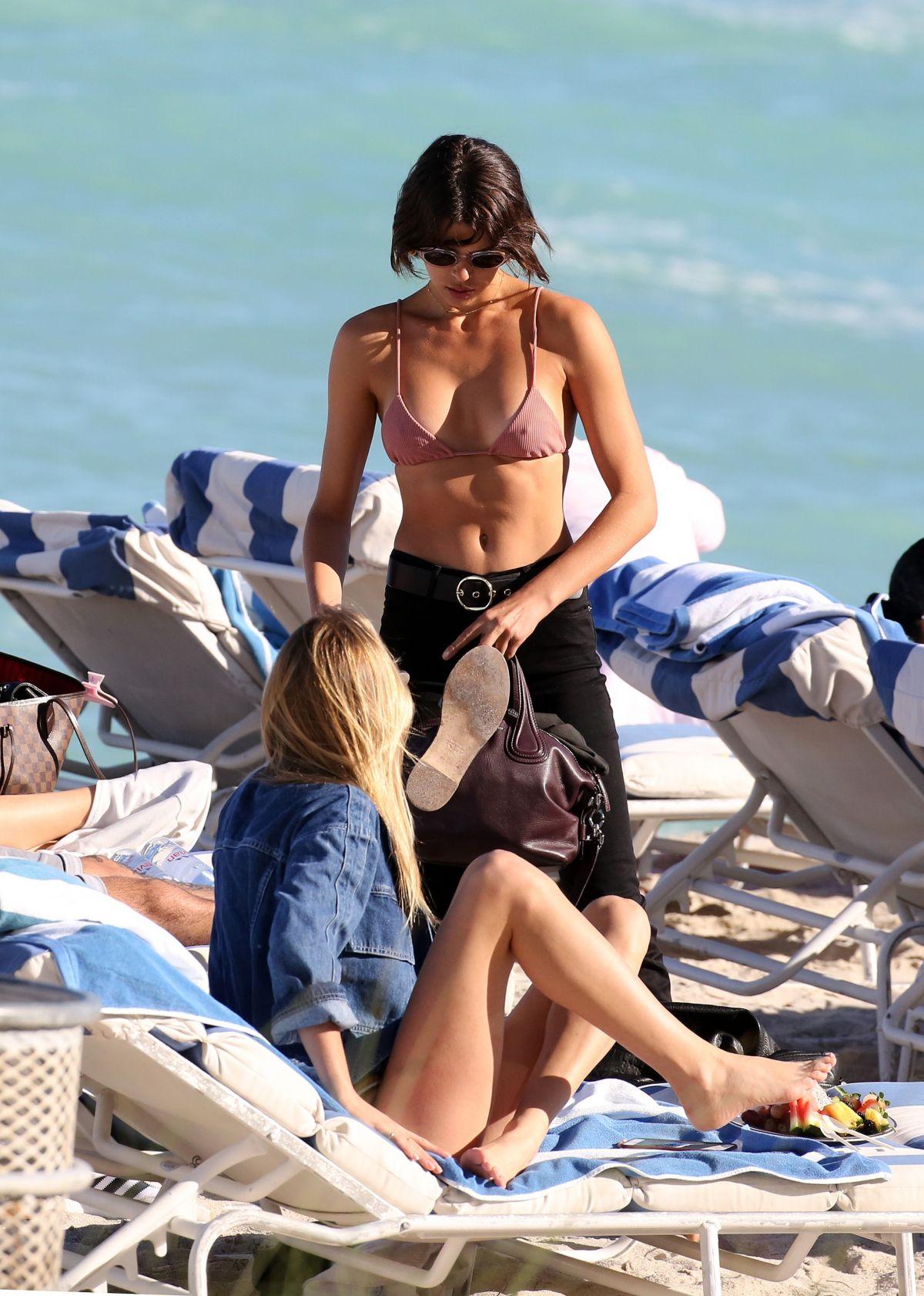 Georgia Fowler and Megan Williams in Bikini on the beach in Miami Pic 3 of 35