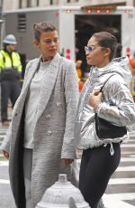 GEORGIA FOWLER and SHANINA SHAIK Leaves a Gym in New York 01/12/2018