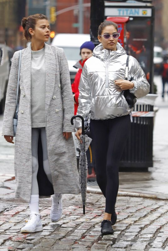 GEORGIA FOWLER and SHANINA SHAIK Leaves a Gym in New York 01/12/2018