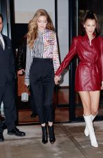 GIGI and BELLA HADID Night Out in New York 01/11/2018