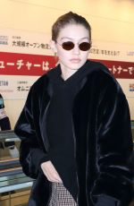 GIGI HADID at Haneda International Airport in Tokyo 01/26/2018