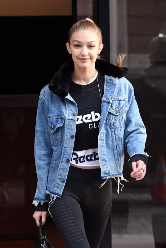 GIGI HADID Leaves Her Apartment in New York 01/19/2018