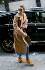 GIGI HADID Out and About in New York 01/13/2018