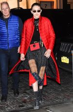 GIGI HADID Out and About in New York 01/23/2018