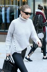 GIGI HADID Out for Lunch in New York 01/15/2018
