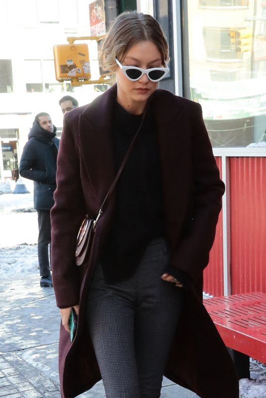 GIGI HADID Out in New York 01/06/2018