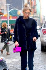 GIGI HADID Out Shopping in New York 01/08/2018