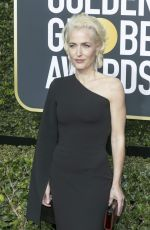 GILLIAN ANDERSON at 75th Annual Golden Globe Awards in Beverly Hills 01/07/2018