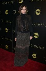 GINA GERSHON at The Alienist Premiere in New York 01/16/2018