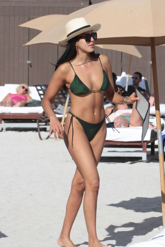 GINEVRA MAVILLA in Bikini at a Beach in Miami 12/31/2017