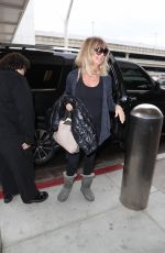 GOLDIE HAWN at LAX Airport in Los Angeles 01/08/2018