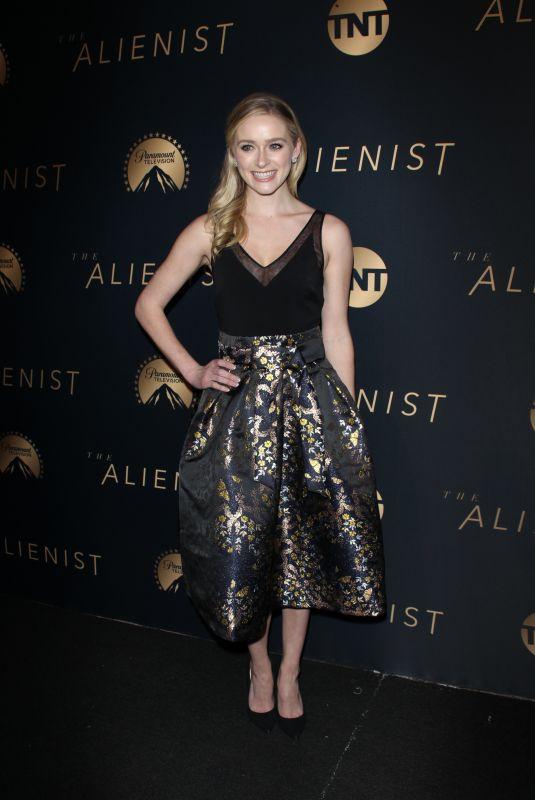 GREER GRAMMER at The Alienist Premiere in Los Angeles 01/11/2018