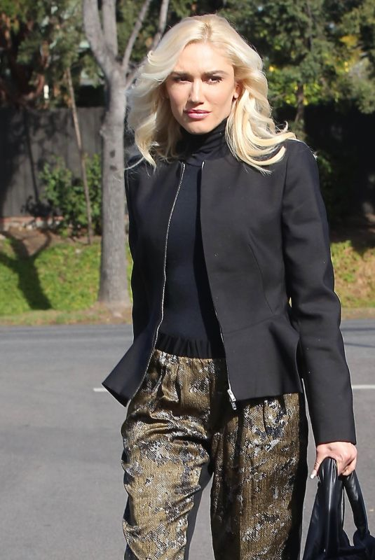 GWEN STEFANI Arrives at a Church in Los Angeles 01/14/2018