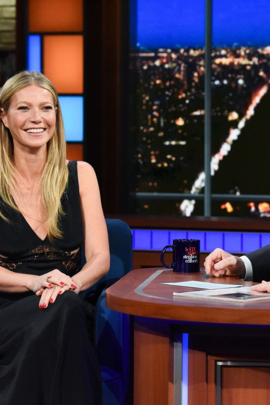 GWYNETH PALTROW at Late Show with Stephen Colbert 01/25/2018