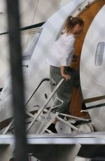 GWYNETH PALTROW Boarding in a Private Jet in Van Nuys 01/02/2018