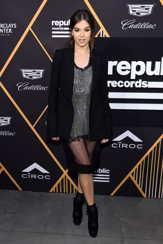 HAILEE STEINFELD at Republic Records Pre-Grammy Awards Party in New York 01/26/2018