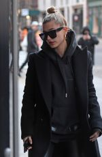 HAILEY BALDWIN Arrives at Bella Hadid