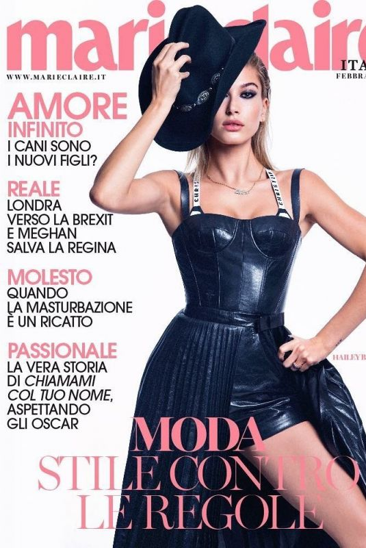 HAILEY BALDWIN for Marie Claire Magazine, Italy February 2018