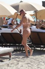 HAILEY BALDWIN in Bikini on the Beach in Miami 01/01/2018