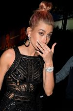 HAILEY BALDWIN Leaves Instyle and Warner Bros Golden Globes After-party in Los Angeles 01/07/2018