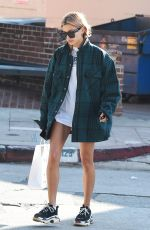 HAILEY BALDWIN Leaves Pressed Juice in Los Angeles 01/11/2018