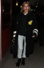 HAILEY BALDWIN Night Out in New York 01/26/2018