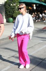 HAILEY BALDWIN Out for Breakfast at Urth Caffe in West Hollywood 01/12/2018