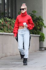 HAILEY BALDWIN Out for Coffee in Los Angeles 01/08/2018