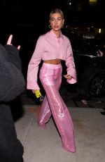 HAILEY BALDWIN Out for Dinner at Carbone in New York 01/26/2018