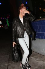 HAILEY BALDWIN Out for Dinner at Matsuhisa in Los Angeles 01/10/2018