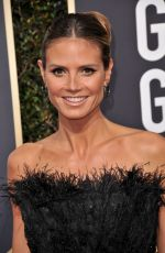 HEIDI KLUM at 75th Annual Golden Globe Awards in Beverly Hills 01/07/2018
