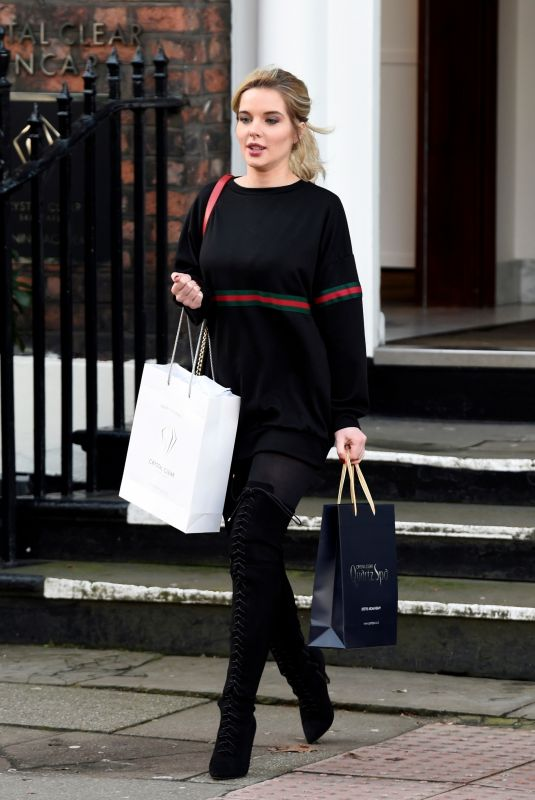 HELEN FLANAGAN at Crystal Clear Spa in Liverpool 01/25/2018