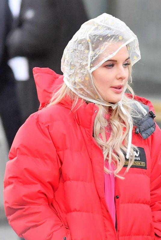 HELEN FLANAGAN on the Set of Coronation Street in Manchester 01/22/2018