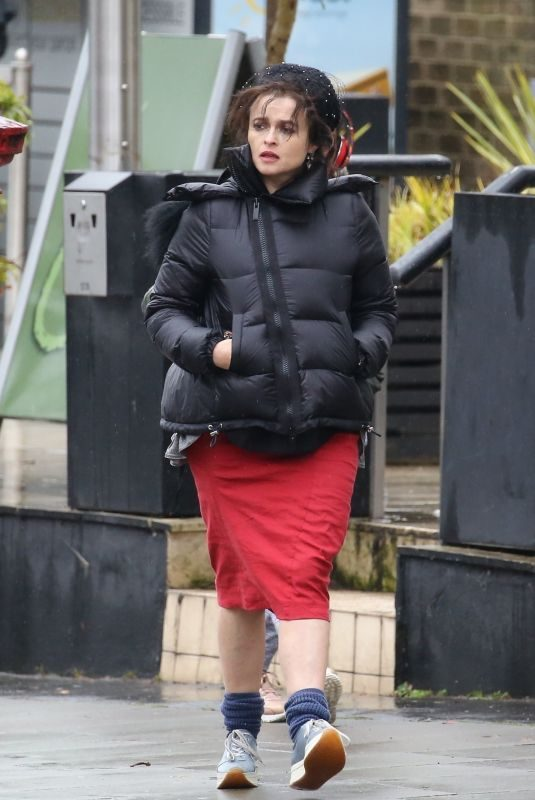 HELENA BONHAM CARTER Out and About in Hampstead 01/20/2018