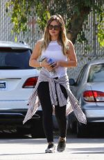 HILARY DUFF Heading to a Gym in Studio City 01/29/2018