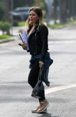 HILARY DUFF Out and About in Santa Monica 01/16/2018