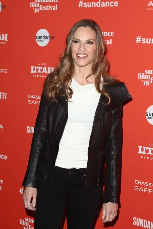 HILARY SWANK at What They Had Premiere at Sundance Film Festival 01/21/2018