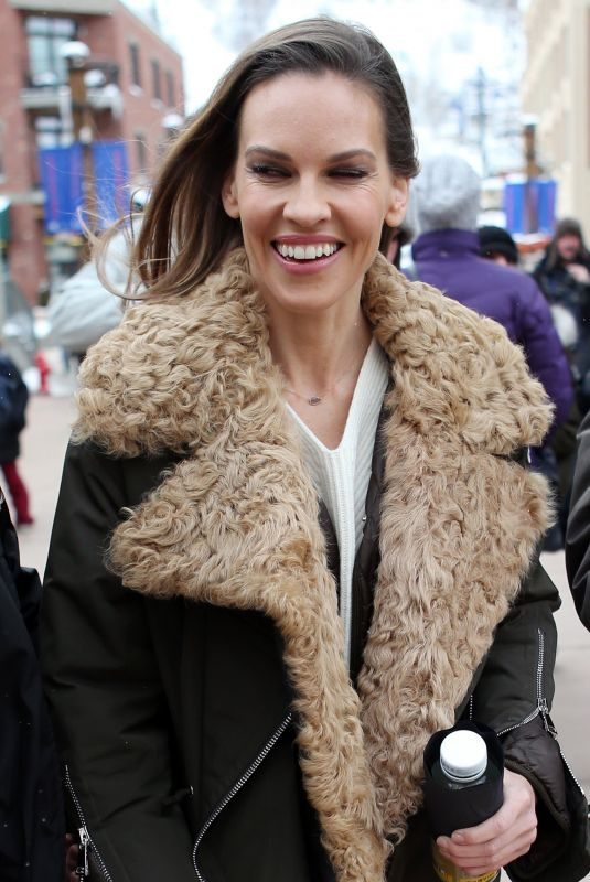 HILARY SWANK Out at 2018 Sundance Film Festival 01/21/2018