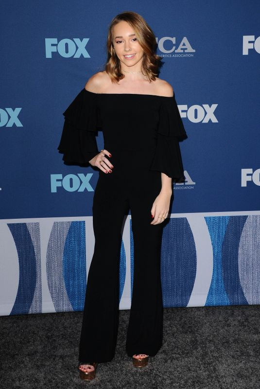 HOLLY TAYLOR at Fox Winter All-star Party, TCA Winter Press Tour in Los Angeles 01/04/2018