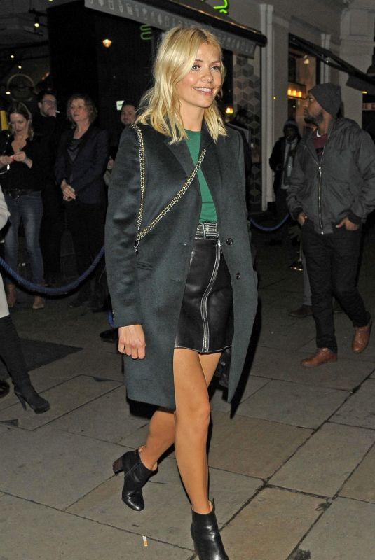 HOLLY WILLOGHBY at Cafe De Paris in London 01/15/2018