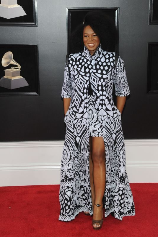INDIA ARIE at Grammy 2018 Awards in New York 01/28/2018