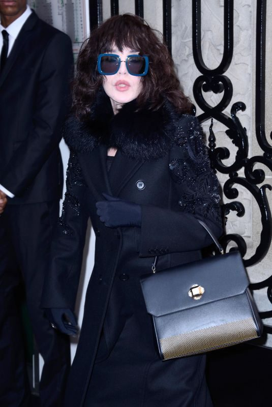 ISABELLE ADJANI at Elie Saab 2018 Haute Couture Spring/Summer Show in Paris 01/24/2018