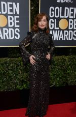 ISABELLE HUPPERT at 75th Annual Golden Globe Awards in Beverly Hills 01/07/2018