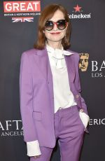 ISABELLE HUPPERT at Bafta Los Angeles Tea Party in Los Angeles 01/06/2018