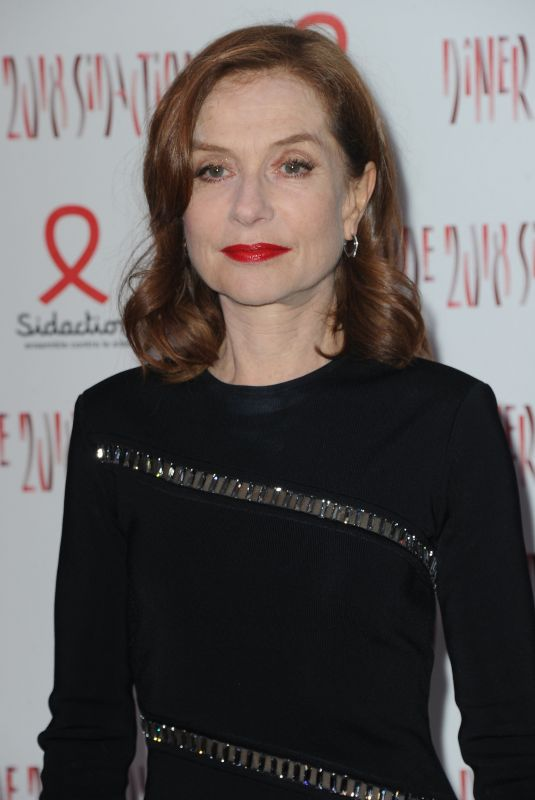 ISABELLE HUPPERT at Sidaction Gala Dinner in Paris 01/25/2018